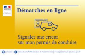 Démarches en ligne – Signaler une erreur sur mon permis de conduire ... 560f3acb5664