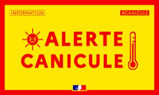 PLAN NATIONAL CANICULE - Vigilance JAUNE avec situation météorologique à surveiller