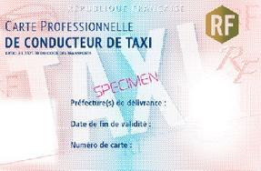 Taxis Dlivrance De Nouvelles Cartes Professionnelles Scurises