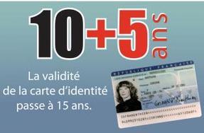 La durée de validité de la carte nationale d'identité passe de 10 à 15 ans